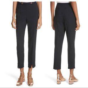 Navy Cerisat split hem slim dress pants US 8 $209